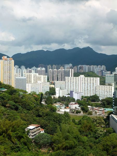 City Cityscape Densely Populated Mountains New Territories Sha Tin Tall Buildings Hong Kong Battle Of The Cities Adapted To The City