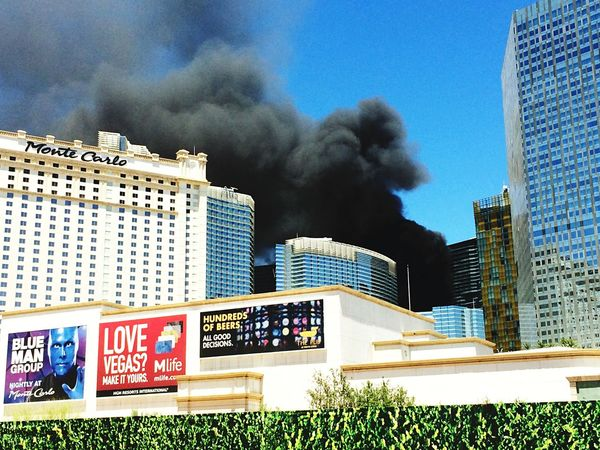 Fire Smoke Vegas  What's Happening Oh My God! Incident