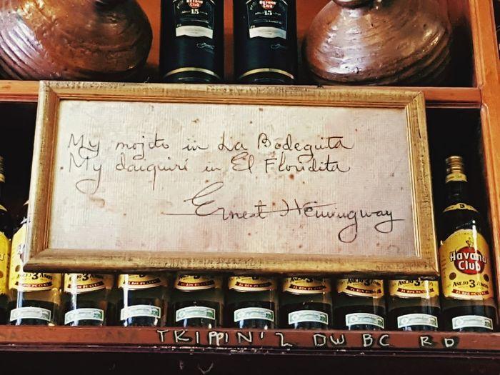 La Bodeguita #Cuba #LaBodeguita #Mojito Communication Text Handwriting  Close-up
