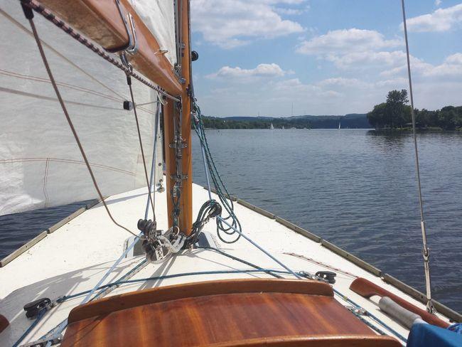 Essen Baldeneysee Sailing Essen Ruhrgebiet The Purist (no Edit, No Filter) Boats Folkeboot