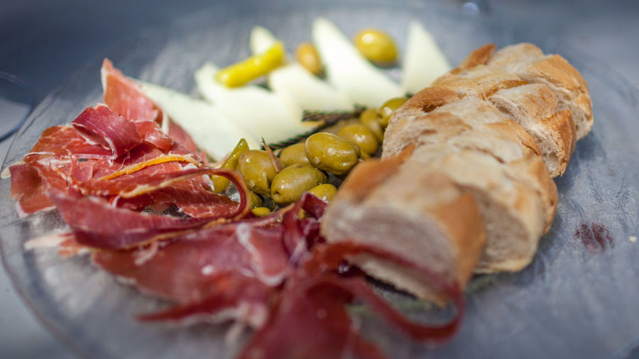 Baguette Cheese Cheese! Close-up Food Food And Drink Freshness Ham No People Olives Ready-to-eat