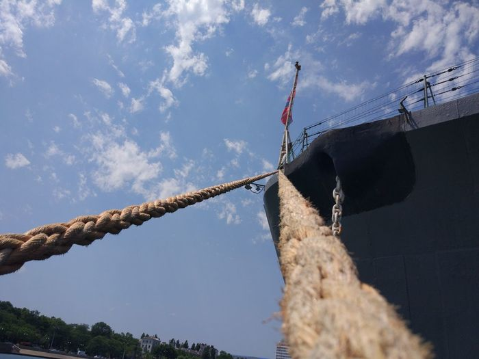 Nautical Vessel Rope Sky Mode Of Transportation Transportation Moored Nature Day Low Angle View Cloud - Sky No People Water Sailboat Ship Outdoors Travel Mast Pole Sailing Anchored Cruiser Mikhail Kutuzov