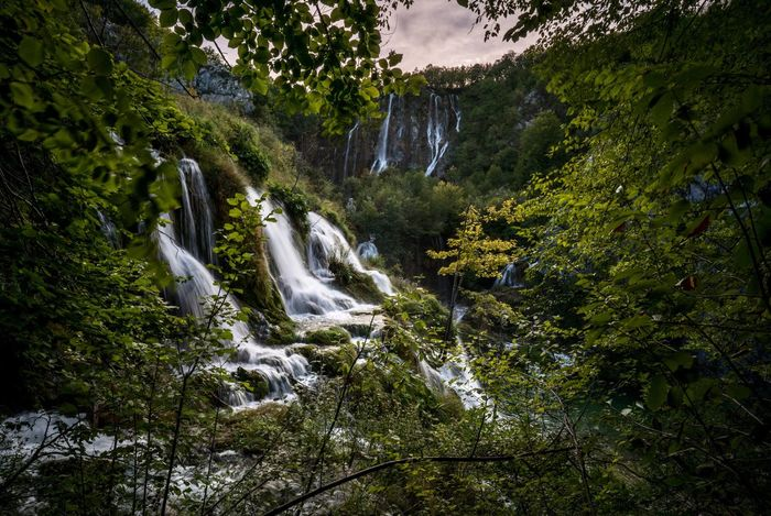 Hide Out. Waterfall Scenics Nature Beauty In Nature Tree Landscape Forest Water Outdoors Tranquility Tranquil Scene Vacations Sky Plitvicka Jezera Nacionalni Park Plitvice Lakes National Park Plitvice Plitvickajezera Plitvice National Park Dusk Croatia Croatia ♡ Hrvatska Natural Frame Travel Photography Hideout