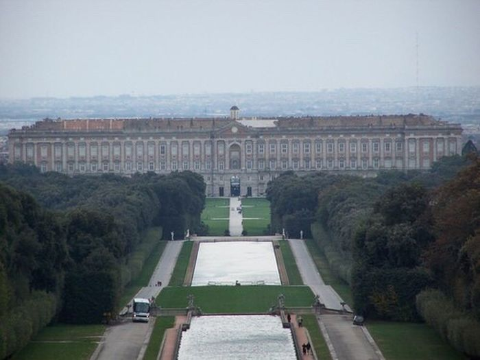 Pallazzorealedicaserta Caserta Caserta Palace Architecture History Travel Destinations Built Structure Façade Building Exterior Outdoors Day No People Sky Tree Nature City