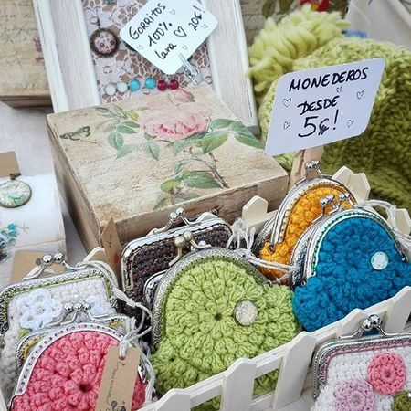 Tatapatata Handmade Jewelry Vintage Knit Crochet Coinpurse Handmadewithlove