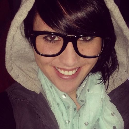 Back to brunette NerdyGlasses Darkhair HOODIES Selfie