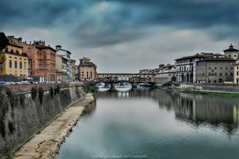 Cityscape Old Town City Cloud - Sky Sky Town Outdoors Travel Destinations Built Structure Bridge - Man Made Structure No People Water Nikonphotography Igersfirenze Travelphotography Goodvibes Ig_italia Fotografia Nikon Volgoitalia Firenze Igerstoscana Tuscanygram