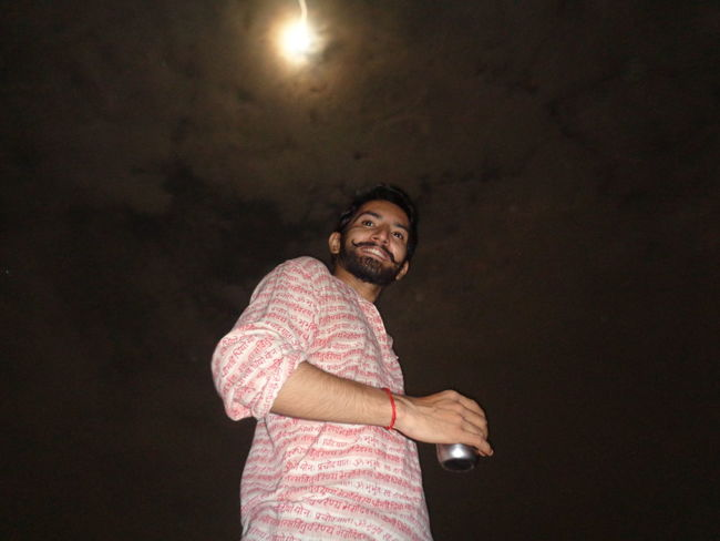 Adults Only Adult One Man Only Only Men One Person Beard Portrait People Indoors  Smiling Black Background Happiness Night Young Adult kojagiri, indian kojagiri EyeEmNewHere