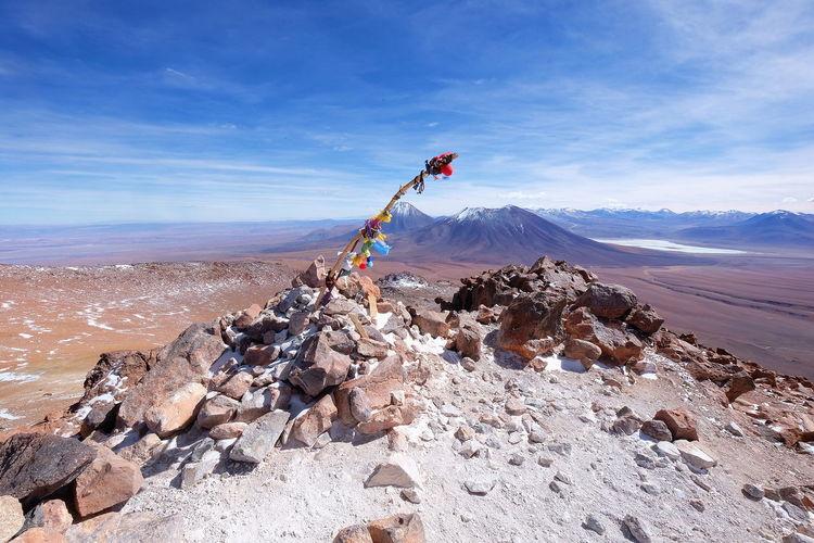 Summit of Cerro Toco Volcano Summit Climbing No People Chile Atacama Desert Outdoors Sky Day Landscape Mountain Nature Go Higher