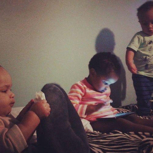 These three amigos have refused to take naps... 😩 Pajamaparty Jesustakethewheel LongNight Longday ColdSeasonSucks Cabinfever