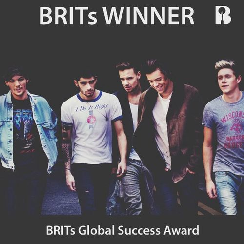 """Love is when someone else's happiness is your happiness"" 2 awards for my boys... I can't believe it. They have come so far and they never fail to make me proud. I've been in this fandom for 3years now, and they have been her for me every day... One Direction BRITs2014"