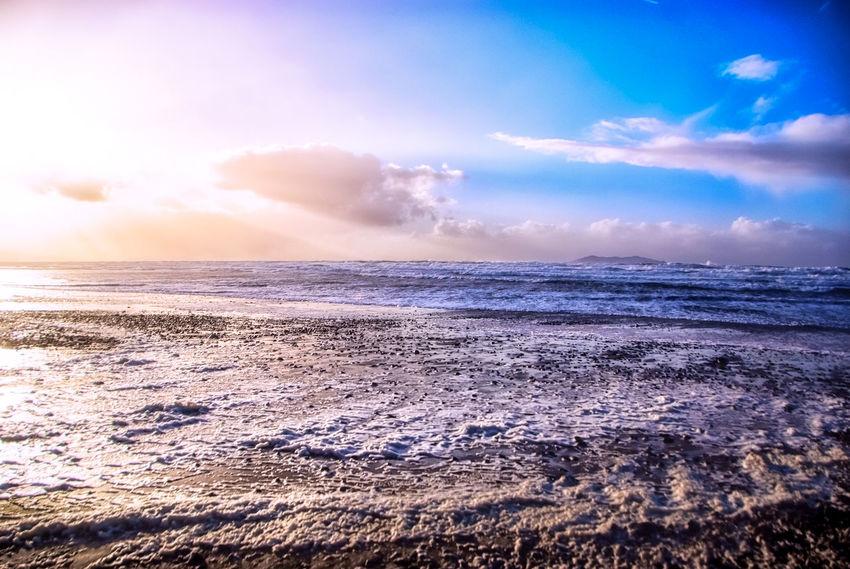 Ocean # #ocean #WildAtlanticWay Beach Beauty In Nature Horizon Over Water Nature Sand Scenics Sky Sunlight Tranquil Scene Water