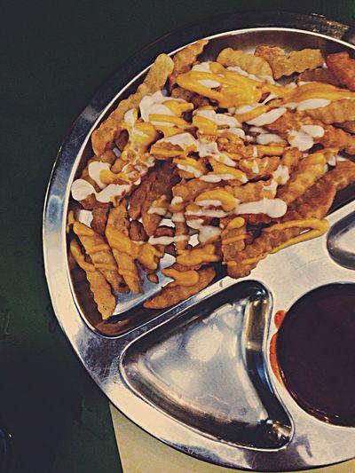 Indian version of cheese fries. yum! Food Porn EyeEm Best Shots EyeEm Best Edits Portrait