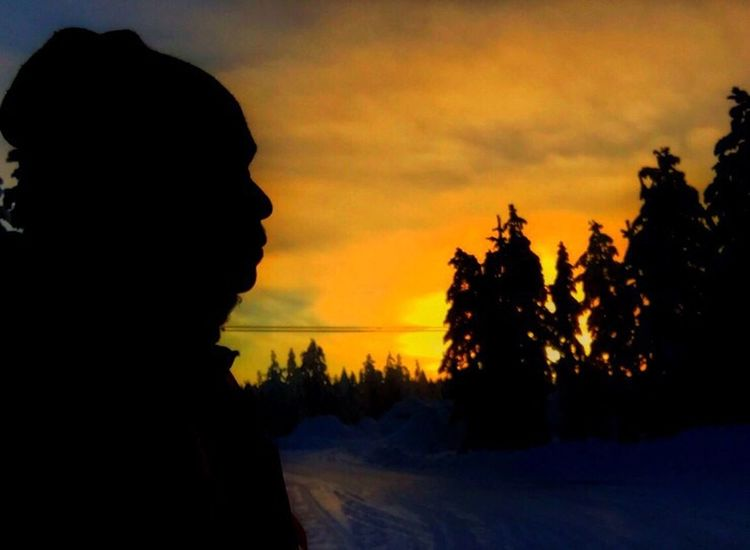 Sillhouette and sunset Rovaniemi, Finland Aurora Chasing Sojourn IntotheArticCircle Reflecting Sunset Silhouettes Sunrise_sunsets_aroundworld Winterinlaplandfinland Winterinfinland2016 IPS2016Nature Iphonephotography Iphone6 Dusk Dawn Of A New Day Pastel Power
