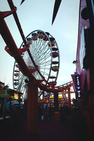 Ferris Wheel Arts Culture And Entertainment Amusement Park Santa Monica Pier Rollercoaster Live For The Story Multi Colored Summer Close-up Beach Life City Life City Calovefornia California Fun Place Of Heart The Street Photographer - 2017 EyeEm Awards Sommergefühle Sommergefühle