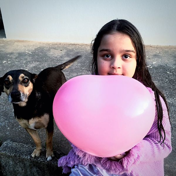 Love Children Eyeemphotography Dog Sweet Child That's Me Pink Infancy Beauty Brazil
