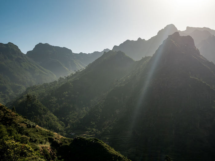 Landscape_Collection Madeira Madeira Island Beauty In Nature Clear Sky Day Landscape Mountain Mountain Range Nature No People Outdoors Scenics Sky Sunlight Tranquil Scene Tranquility Tree Travel Destinations Hiking Travel Travel Photography