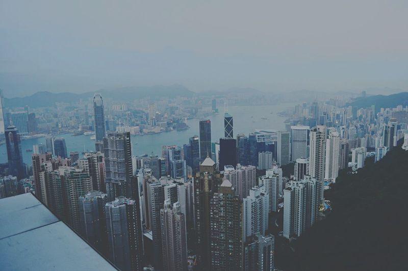 Hongkong HongKong Thepeak City Enjoying The View Throwback Traveling