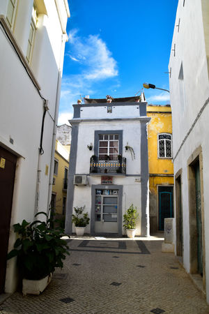 Architecture_collection Colors Empty Places Narrow Portugal Architecture Building Exterior Built Structure Color Day Exploring China Nature No People Olhao Outdoors Plant Sky Street Photography Tile