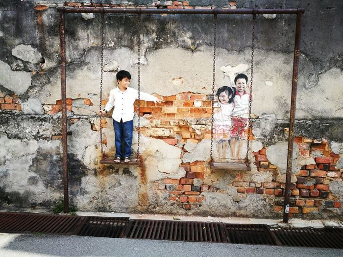 3D Art Mural Malaysia Truly Asia Pulau Pinang EyeEm Gallery EyeEm Selects Full Length Togetherness Standing Men Pattern Architecture Spray Paint Street Art Paint Can Graffiti Vandalism Mural Art ArtWork