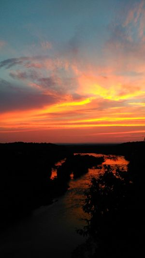 Potomac River Potomac Harpersferry Maryland Westvirginia Sunset Clouds Nature Sunonwater