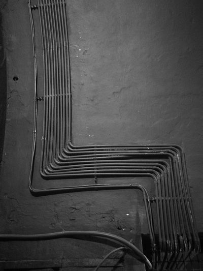 No People Built Structure Architecture Broken Wall Details B&w B&w Photo B&w Photography Amateurphotography Bucharest Architecture Club Night Pipes