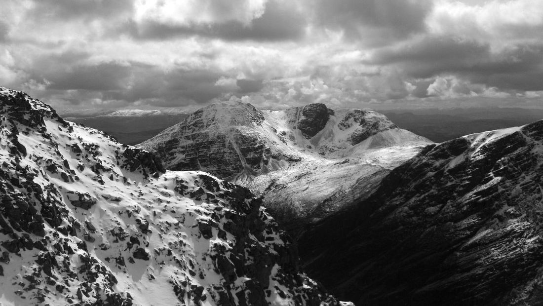 Mountain_collection Snow Winterscapes Scottish Highlands Scotland Black And White Collection  Bleak Wilderness Nature_collection Cloud_collection