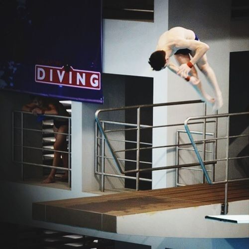 Diving competition at the Aquatic Centre in the new Sportshub