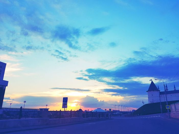 Kazan Cloud - Sky Sky No People Sunset Outdoors Built Structure Architecture Building Exterior Winter Cold Temperature City Nature Day First Eyeem Photo