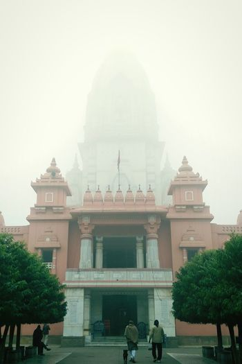 Built Structure Architecture Real People Place Of Worship Religion Building Exterior Outdoors Spirituality Men Fog Smoke - Physical Structure People Cultures Day Adult Sky Tradition Temple Vishwanath Temple Vishwanath