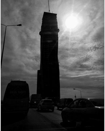Blackandwhite Tower Urban Silhouette