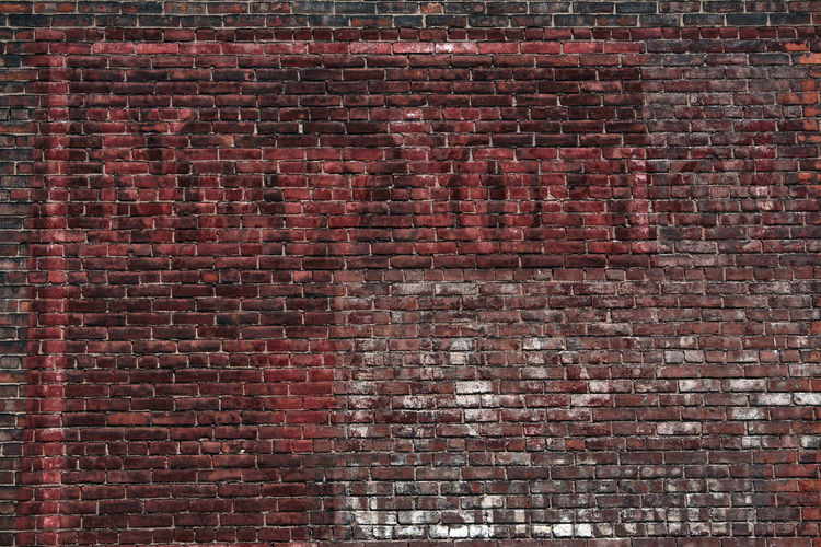 Architecture Backgrounds Brick Wall Brick Wall Faded Sign Old Sign Fading New York Transience Transient Nature New York New York City No People Old Buildings Outdoors Red Repetition Wall Wall - Building Feature Weather Weathered Wall Faded_world Fade New York ❤ New York, New York