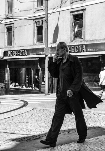 Blackandwhite Grim Moments Outdoors Peopleofporto Porto Real People Streetphotography