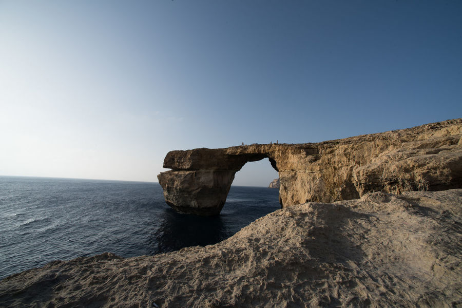 azure window, gozo, Malta Azure Beauty In Nature Blue Clear Sky Day Fossil Geology Heaven Horizon Over Water Idyllic Islandlife Landscape Nature Nature Physical Geography Rock - Object Rock Formation Scenics Sea Sun Tourism Tranquility Travel Destinations Wind Window