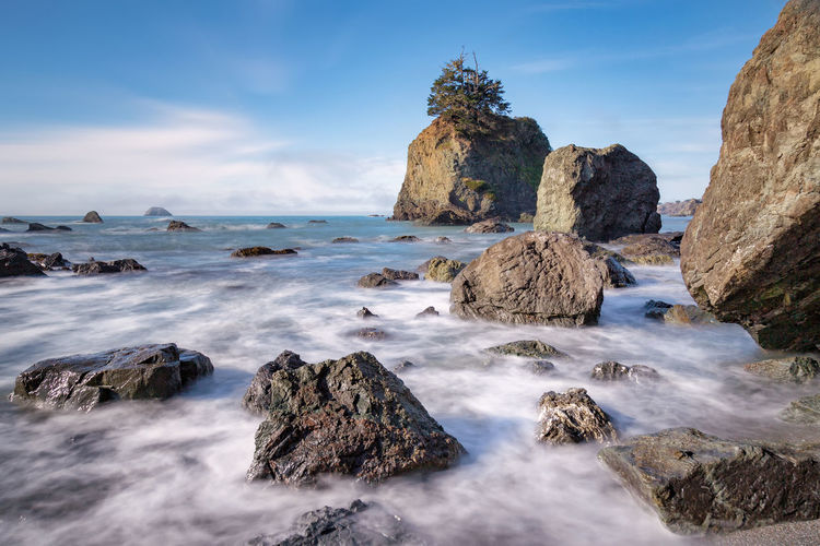 Long exposure image of the beautiful Northern California coast. Landscape_Collection Nature Pacific Pacific Northwest  Vacations Beauty In Nature Day Horizon Over Water Landscape Landscape_photography Nature Nature_collection No People Outdoors Pacific Ocean Scenics Sea Sea And Sky Seascape Seaside Sky Tranquil Scene Vacation Variation Water
