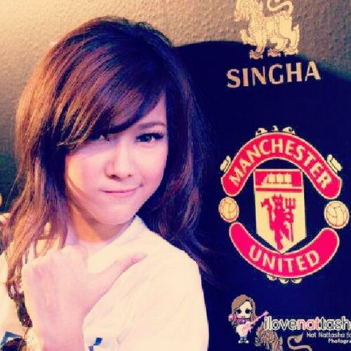 NAT Nattasha GloryMUFC Mufc unitedarmy RedArmy girls beauty thailand tumblr