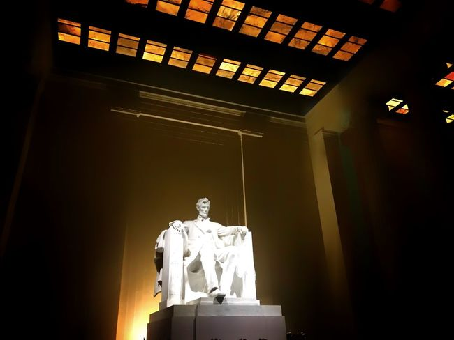 Whatever you are, be a good one. Abraham Lincoln. Good Morning! Photo♡ Light And Shadow Cjfmass Taking Photos Washington, D. C. Nationalmallandmemorialparks Abraham Lincoln Statue Abraham Lincoln Memorial Indoors  Low Angle View Statue Sculpture No People Illuminated