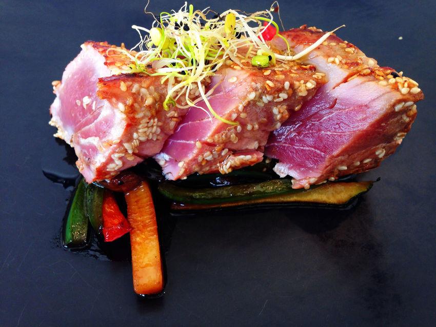 Tataki de salmón! Salmondish Food Foodporn Foodphotography Tataki Yummy