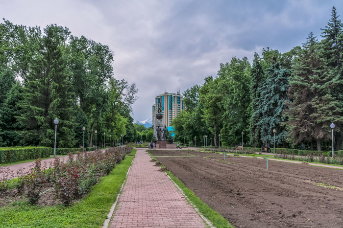 Almaty Almaty City AlmatyMyFirstLove Architecture Building Building Exterior Buildings Built Structure City Cloud - Sky Day Green Color Growth Kazakhstan Mountain Mountain Range Nature Outdoors Park Park - Man Made Space Roses Sky Snow The Way Forward Tree