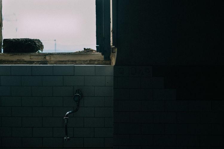 Sky Seen From Abandoned Bathroom Window
