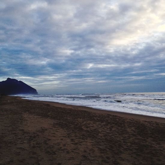 Winter sea Italy Cloudy Winterscapes Circeo Sabaudia Sea Beach Sky Nature Beauty In Nature Horizon Over Water Sand Scenics Water Tranquility Wave Day Cloud - Sky Shades Of Winter An Eye For Travel