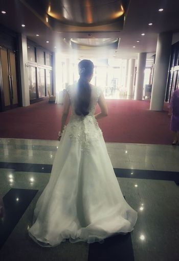 my best freind wedding Bride Wedding Wedding Dress One Person Celebration Full Length Indoors  Real People Life Events Women Wedding Ceremony Groom Illuminated Bridegroom Day Adult People