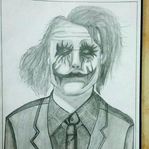 my personal favourite pencil sketch of the Legend Heath Ledger Love Joker One Person Human Face Portrait Fun Beautiful Paper Indoors  Pencil Drawing Mysketch Shades Of Black & White MySketchArt Loving It  Thegreatestperson Eyes Are Soul Reflection Check This Out
