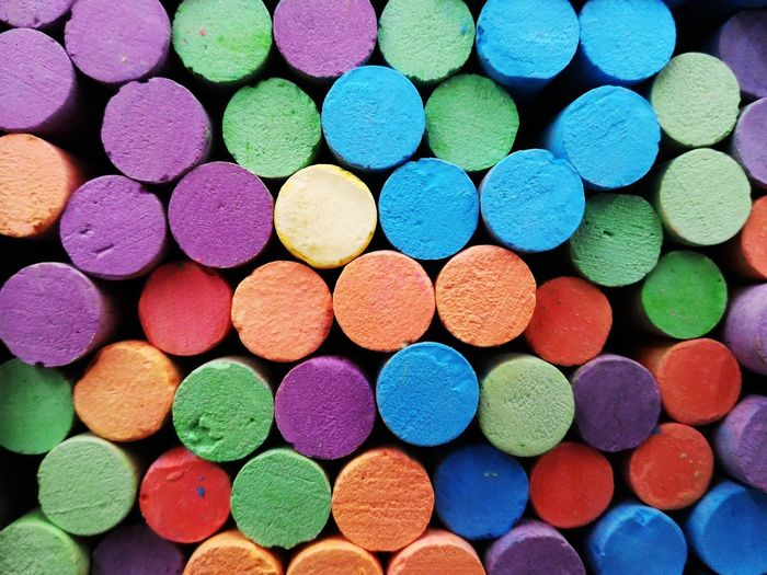 Full frame shot of colorful crayons