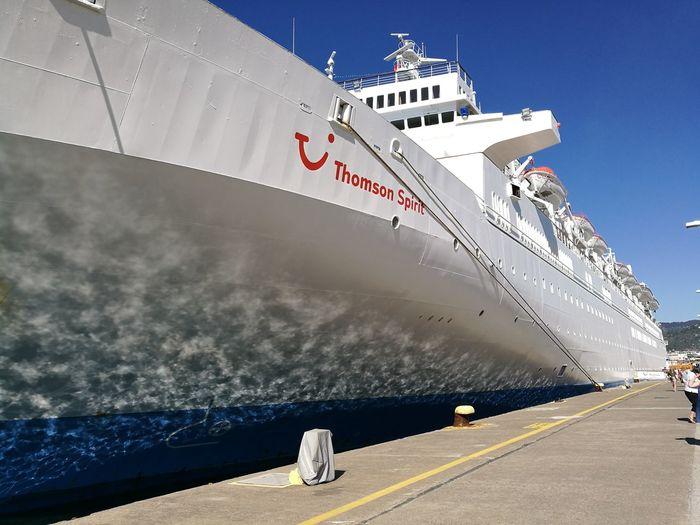 Cruise Ship Outdoors Sea No People Ship Transportation Travel Destinations Harbor Thompson Thompson Spirit Travel Vacations