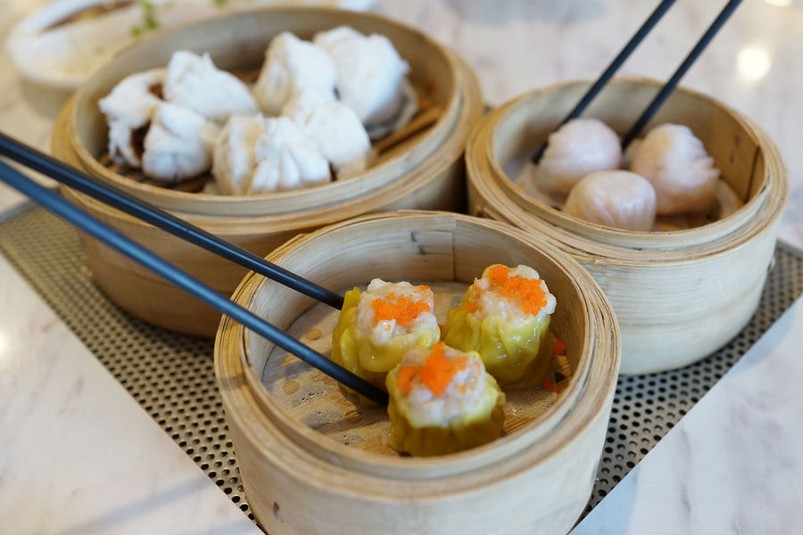 Dim Sum Time Cantonese Food Asian Food Bun Chinese Chinese Dumpling Chinese Food Close-up Culture And Tradition Day Dim Sum Dumpling  Food Food And Drink Freshness Healthy Eating Indoors  No People Ready-to-eat Shrimp Dumplings Steamed  Table