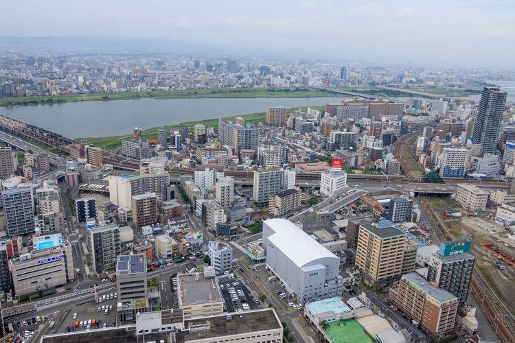 City View City Life Cityscape EyeEm Best Shots EyeEm Selects EyeEmNewHere OSAKA Osaka,Japan River View Skyline Building Exterior Buildings Buildings And River Top View Urban Urban Skyline The Architect - 2018 EyeEm Awards