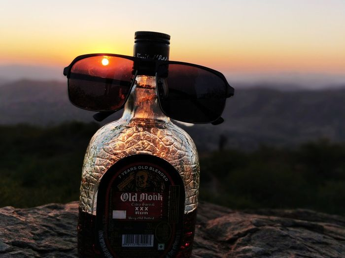 #oldmonk #old #JustMe #Nature  #beautiful EyeEm Selects Sunset Outdoors Sky No People Day