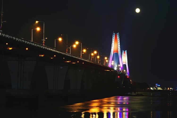 Yeongheung Bridge Night Lights Nightview Light Nightphotography Taking Photos Hello World Moon Nikon D600 Bridge