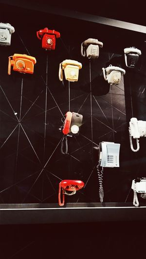 Old Phones Red